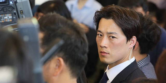 Vệ sĩ của ông Moon, Choi Young-jae. Ảnh: NEXT SHARK