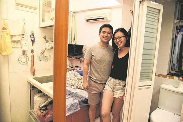 Cặp vợ chồng trẻ sống trong một căn nhà có kích cỡ siêu nhỏ.