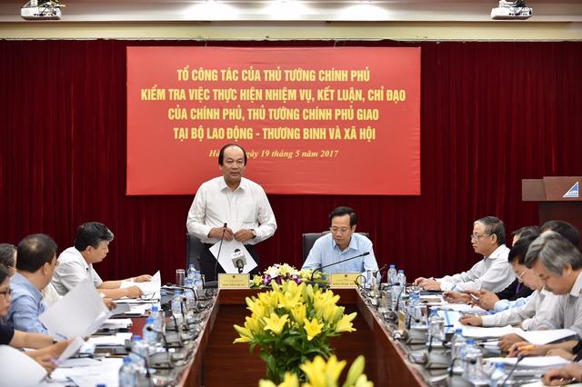 Bộ trưởng, Chủ nhiệm VPCP Mai Tiến Dũng phát biểu tại buổi kiểm tra. - Ảnh: VGP/Nhật Bắc