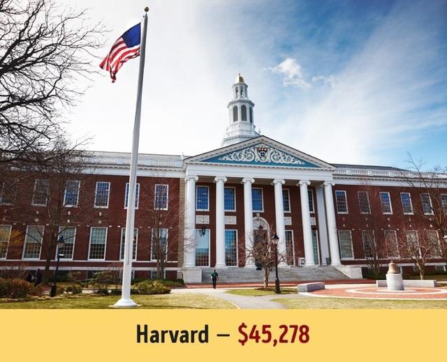 Con sa�� nA�y a�Y Harvard lA� 45.278$.