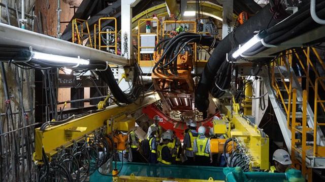 Robot TBM được đánh giá khi đào hầm đảm bảo an toàn cao và lần đầu tiên được sử dụng tại Việt Nam.