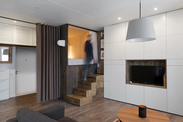 Với diện tích chỉ 35m2 nhưng ngôi nhà trông khá thông thoáng và tiện nghi.