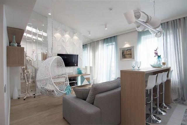 Nhìn cách bài trí và sắp xếp không gian, không ai nghĩ rằng căn hộ này có diện tích sàn chỉ 40m2.