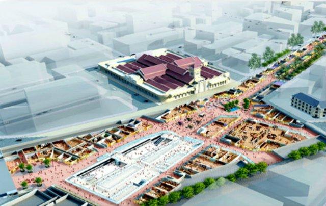 Dự án Khu phố ngầm Nhà ga trung tâm Bến Thành - Nhà ga Nhà hát Thành phố với tổng số vốn đầu tư dự kiến gần 8.400 tỷ đồng. Ảnh: BQL Đường sắt đô thị TP. HCM