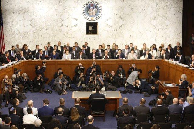 Phiên điều trần của cựu giám đốc FBI James Comey hôm 9/6. Nguồn: Business Insider