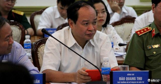 Thứ trưởng Bộ KH và ĐT Đào Quang Thu.