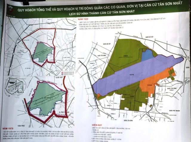 Quy hoạch tổng thể và quy hoạch vị trí đóng quân các cơ quan, đơn vị tại căn cứ Tân Sơn Nhất.