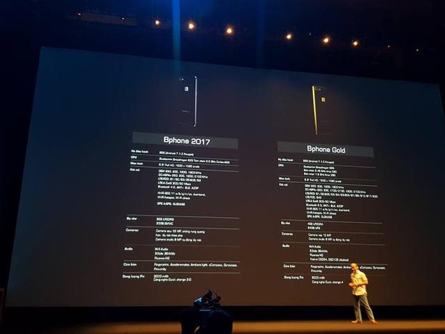 Toàn bộ thông số cấu hình của Bphone 2017 Gold