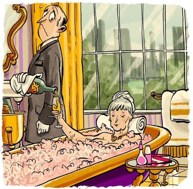 Khách hàng có thể nghĩ ra vô số đòi hỏi kì dị khi ở trong bồn tắm.