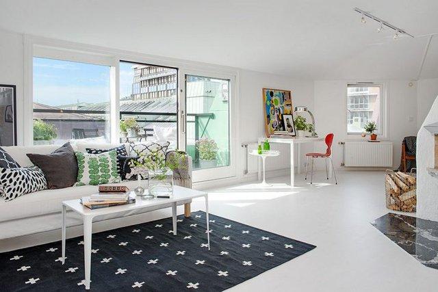 Với tông màu trắng chủ đạo căn hộ nhỏ trở nên đẹp hiện đại, ấm cúng, rộng rãi và hút ánh nhìn ở mọi góc nhỏ.