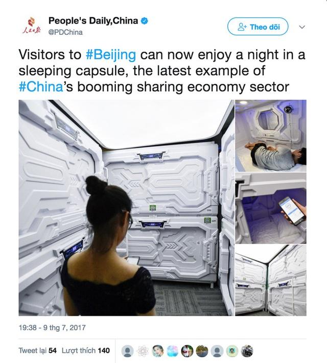 """Một mô hình """"kén ngủ chia sẻ"""" tại Trung Quốc"""