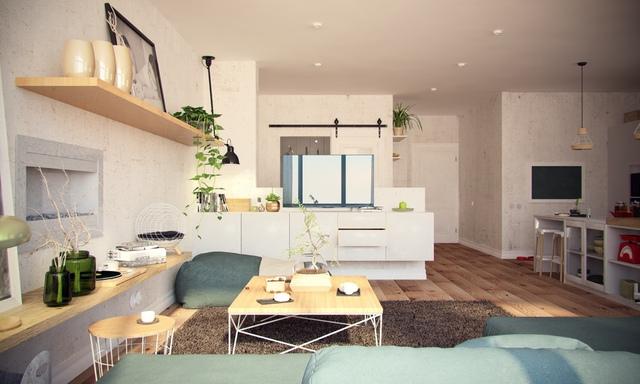 Những gam màu gốc tự nhiên, những gam màu dịu dàng nhất, thân thiện nhất được gia chủ lựa chọn để trang trí cho căn hộ.