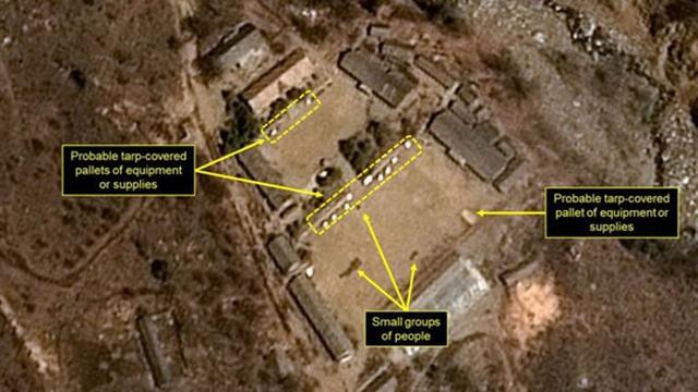 Hình ảnh vệ tinh mới được chụp tức thì tại bãi thử hạt nhân Punggye-ri của Triều Tiên ngày 3-9. Ảnh: CNES