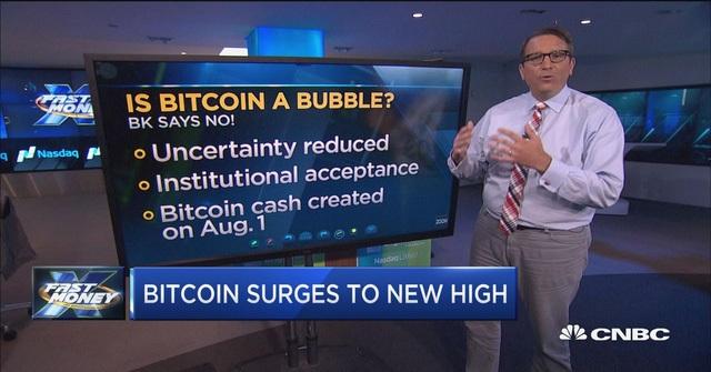 Tin tức bitcoin trên đài CNBC