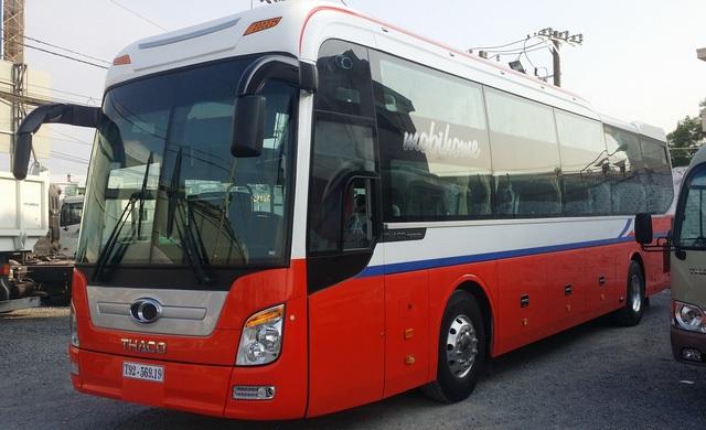 Mẫu xe bus của Thaco.