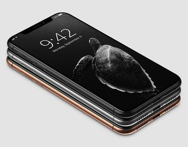 Mặt trước của những chiếc iPhone X này là một khối liền mạch, với nút home vật lí đã được loại bỏ. Chúng ta còn có thể thấy các đường cắt ăng-ten xuất hiện ở mặt hông nữa.