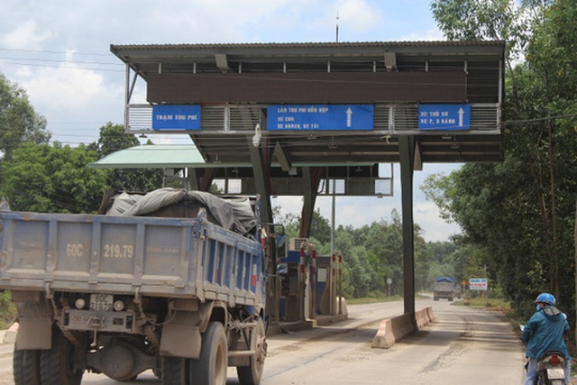 Trạm thu phí trên đường chuyên dụng mới được thông xe