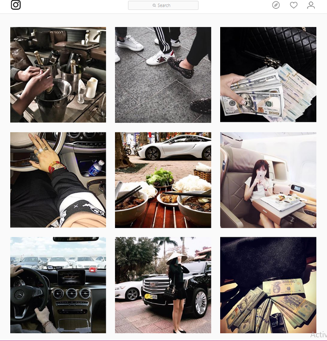 Ảnh chụp từ khoe sự giàu có của người Việt từ tài khoản Instagram richkidsofvietnam - Hội con nhà giàu Việt Nam