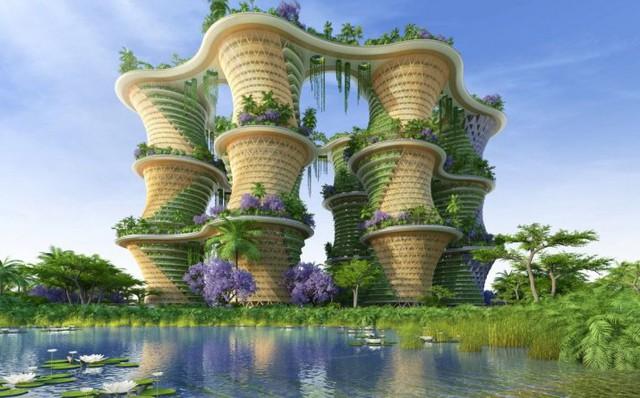 Tòa nhà Hyperion sẽ được thiết kế với các trang trại đô thị và các trang trại chăn nuôi nhỏ sản xuất trứng và sữa.