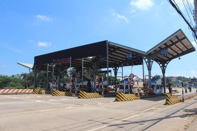 Trạm thu phí BOT tuyến tránh Biên Hòa đặt trên Quốc lộ 1 bị người dân phản đối Ảnh: Xuân Hoàng