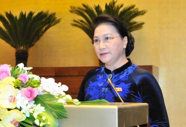 Chủ tịch QH Nguyễn Thị Kim Ngân phát biểu khai mạc kỳ họp thứ 4, QH khoá XIV
