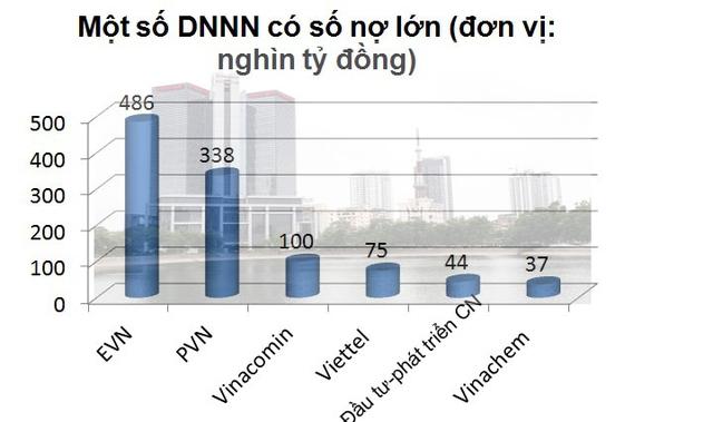 Một số DNNN có nợ lớn.