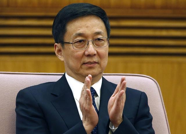 Ông Hàn Chính, bí thư thành ủy Thượng Hải, vừa được bầu vào Ban Thường vụ Bộ Chính trị hồi tuần trước. Ảnh: Reuters