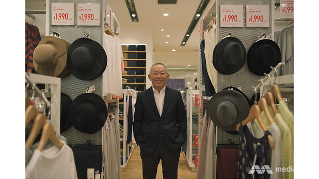Tadashi Yanai tại một cửa hàng Uniqlo ở Nhật
