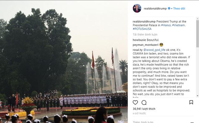 Ông Trump tham dự Lễ chào cờ trong Phủ chủ tịch,