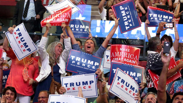 Chủ nghĩa dân tộc thể hiện rõ trong cuộc bầu cử tổng thống Donald Trump