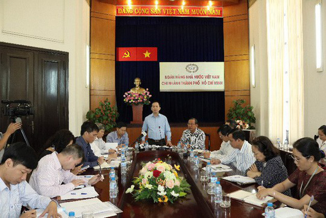 Phó Thống đốc Đào Minh Tú làm việc với NHNN chi nhánh TP HCM sáng 19-12