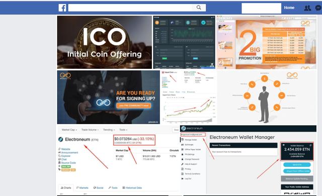 Ma trận các dự ICO bày ra trước mặt nhà đầu tư. Tất cả đều được thấy trên Facebook