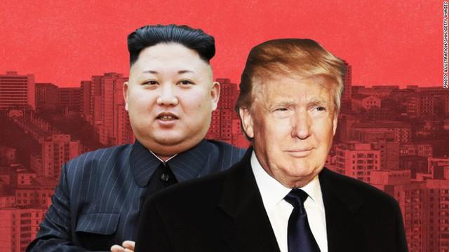 Tổng thống Mỹ Donald Trump gọi ông Kim Jong Un là gã tên lửa nhỏ bé. Ảnh: CNN