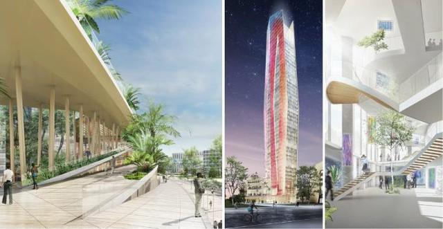 Tòa tháp xanh chọc trời này sẽ có độ cao 244m.