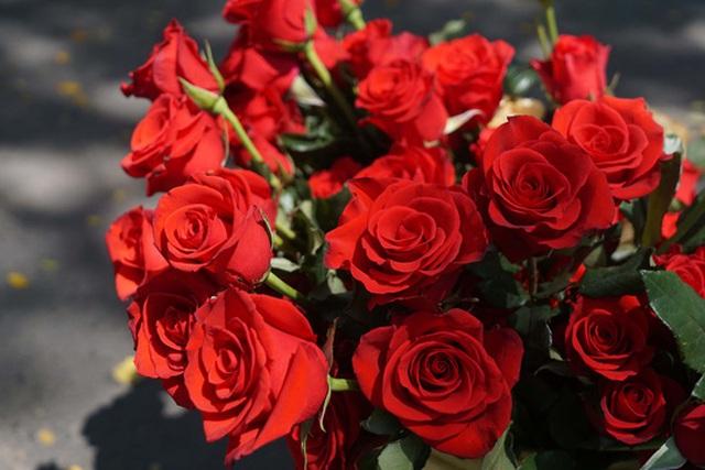 Hoa hồng có giá từ 10.000-15.000/1 bông . Trong khi tại chợ hoa Hồ Thị Kỷ có giá rẻ hơn từ 6000-8.000 đồng/ 1 bông