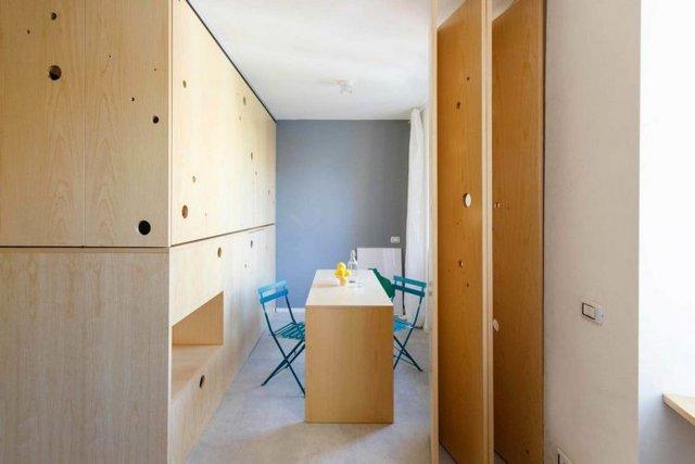 …và một phòng ngủ bảo đảm tối đa sự riêng tư được tạo ra.