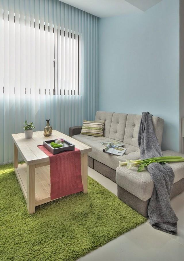 Với chiếc gối ôm nhỏ, chiếc sofa dài khi cần cũng sẽ biến thành góc đọc sách lý tưởng cho chủ nhà.