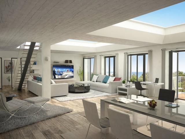 Những căn penthouse có không gian rộng thoáng và kiến trúc tân tiến có mức giá khá cao.