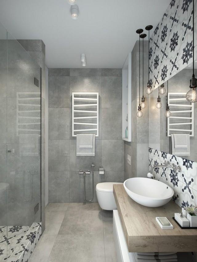 Nhà tắm và vệ sinh được bố trí nối liền với phòng ngủ và bếp. Nơi đây tuy nhỏ nhưng được thiết kế khá sáng trọng và đẹp mắt.