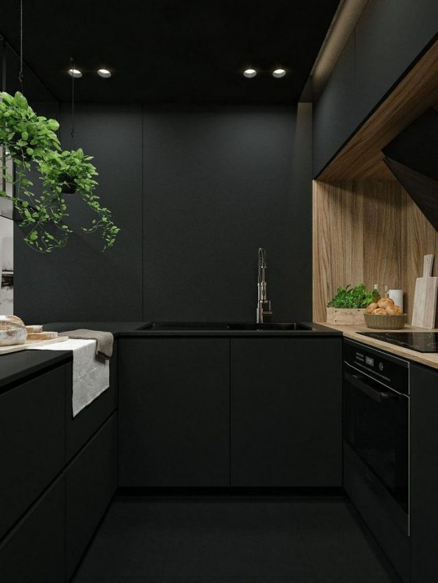 Phòng bếp đơn giản mà không kém phần sang trọng.