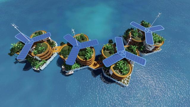 Cả thành phố sẽ được vận hành bằng năng lượng mặt trời và liên tục thu gom và tái chế nước của nó từ đại dương.