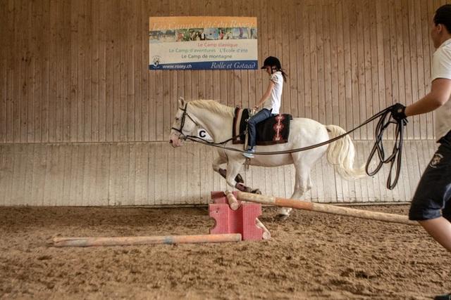 Ngoài ra, cưỡi ngựa cũng là môn được ưa chuộng. Trường có chuồng ngựa riêng với khoảng 20 con ngựa.
