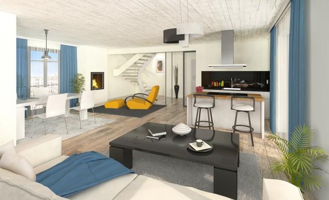 Nội thất nội khu một vài căn hộ cao tầng đều được kiến trúc theo phong một vàih tân tiến, tiện nghi.