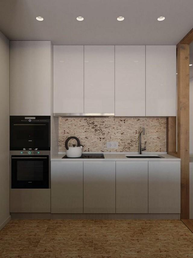 Không gian nấu nướng được thiết kế với hệ thống tủ kệ khép kín và những thiết bị vô cùng hiện đại.