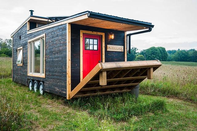 Điều tuyệt vời của ngôi nhà nhỏ này là nó có thể dễ dàng thu gọn lại.