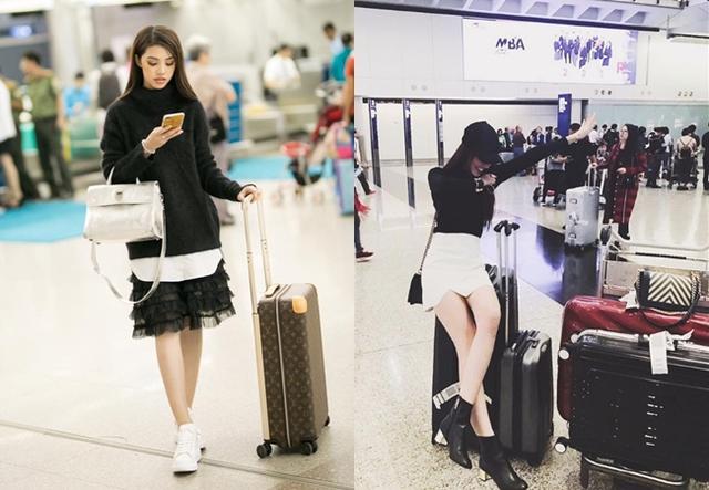 Ra sân bay cũng phải chất như fashionista với những món hàng hiệu xịn.