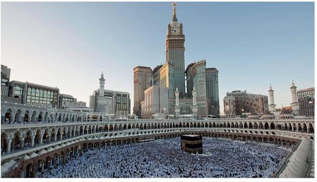 Người hành hương cầu nguyện ở thánh địa Mecca có thể nhìn thấy cao ốc này.