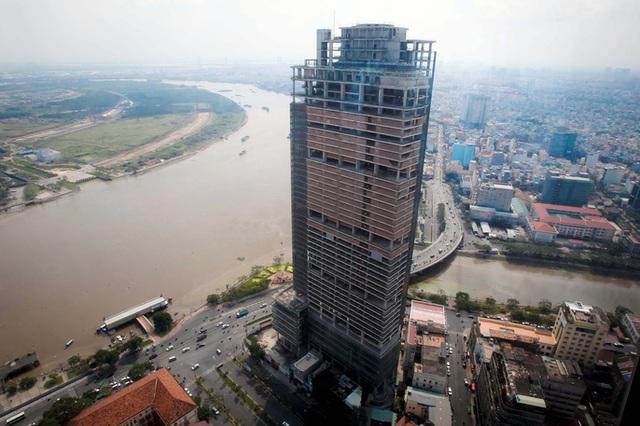 Cao ốc phức hợp Saigon One Tower nằm ở vị trí đắc địa của TP HCM đã bị VAMC thu giữ để xử lý nợ xấu. Ảnh: Hoàng Triều