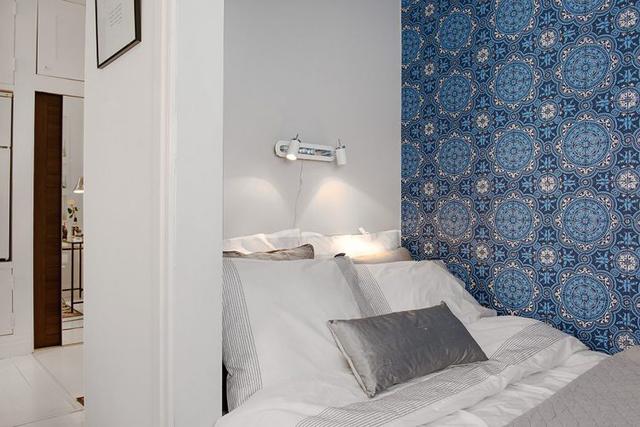 Không giàn phòng ngủ được bố trí đơn giản nhưng êm ái.