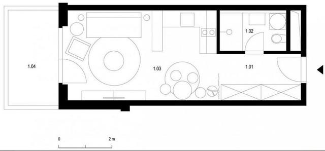 Sơ đồ bố trí toàn bộ không gian trong căn hộ.